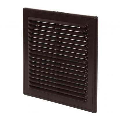 Решетка вентиляционная вытяжная АБС 2121Р 208х208 цвет коричневый
