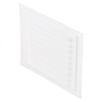 Решетки вентиляционная металлическая Вентс МВМ 150 с 150х150 мм цвет белый