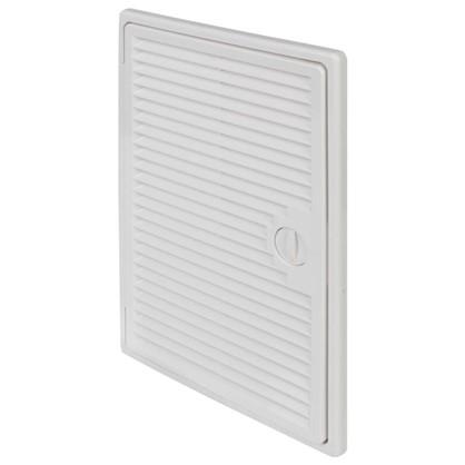Ревизионная люк-дверца с вентиляционной решёткой 20х30 см цвет белый