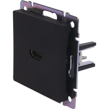 Розетка HDMI WL08-60-11 цвет чёрный матовый