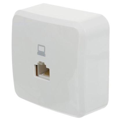 Розетка компьютерная цвет белый цена