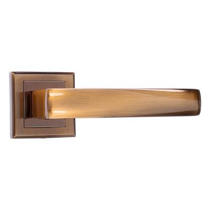Ручка дверная на розетке Bussare Limpo A-65-30 алюминий цвет кофе цена