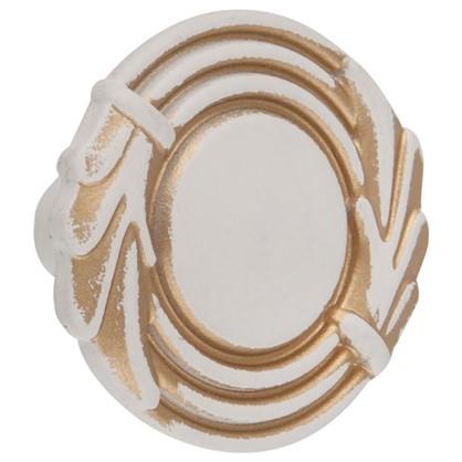 Ручка-кнопка FB 055 000 цвет золотой прованс/жемчужный белый матовый цена