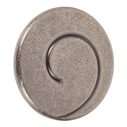 Ручка-кнопка Kerron черный старинный цинк