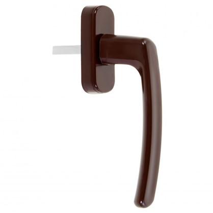 Ручка оконная для ПВХ окон 125 мм пластик/сталь цвет коричневый цена