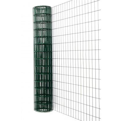 Сетка сварная оцинкованная размер ячейки 60x100 мм 1.5x15 м ПВХ цвет зелёный цена