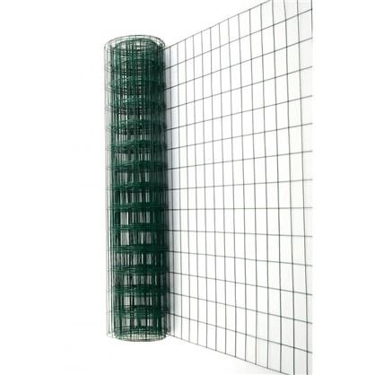 Сетка сварная оцинкованная размер ячейки 60x100 мм 1.8x15 м ПВХ цвет зелёный цена