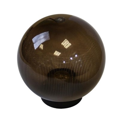 Шар уличный Palla 1xE27x60 Вт 200 мм пластик цвет коричневый цена