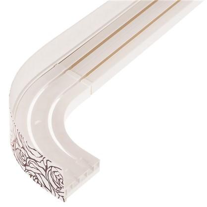 Шина двухрядная с поворотом Нежность в наборе 160 см цвет белый/венге