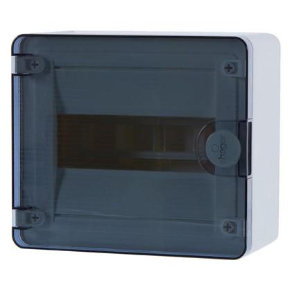 Щит пластиковый на стену Hager Golf на 8 модулей с прозрачной дверью цена