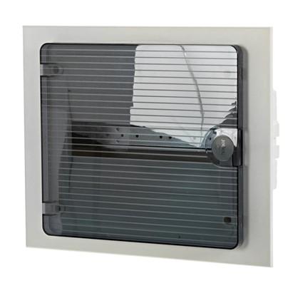Щит пластиковый в нишу Hager Golf на 12 модулей с прозрачной дверью цена