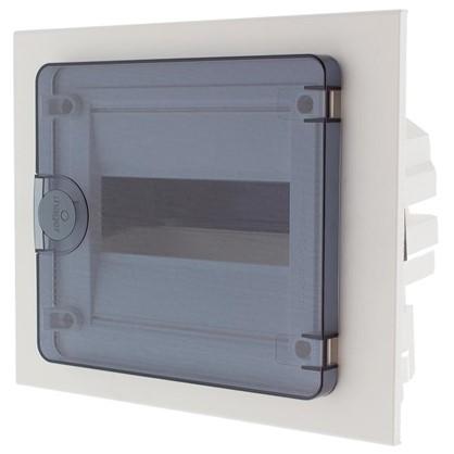 Щит пластиковый в нишу Hager Golf на 8 модулей с прозрачной дверью