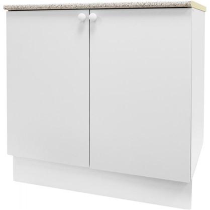 Шкаф напольный Бьянка Д с фасадом 86х80 см цвет белый цена