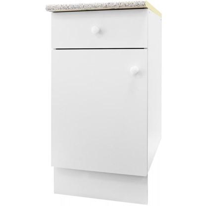 Шкаф напольный Бьянка Д с фасадом и одним ящиком 86х40 см цвет белый цена