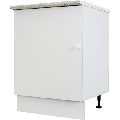 Шкаф напольный Бьянка Сп с фасадом 85х60 см ЛДСП цвет белый цена