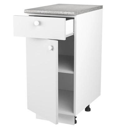 Шкаф напольный Бьянка Сп с фасадом и одним ящиком 85х40 см цвет белый