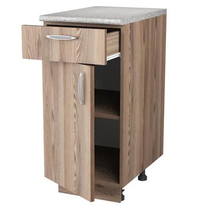 Шкаф напольный Дуб шато Сп с фасадом и одним ящиком 85х40 см ЛДСП цвет дуб цена