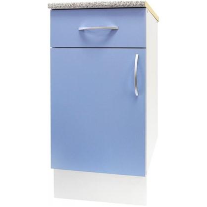Шкаф напольный Лагуна Д с фасадом и одним ящиком 86х40 см цвет голубой цена