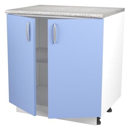 Шкаф напольный Лагуна Сп 85х80 см цвет голубой