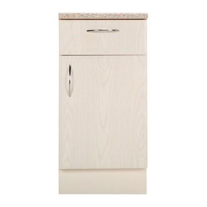 Шкаф напольный Рондо с фасадом и одним ящиком 80-85х40 см МДФ цвет белый цена