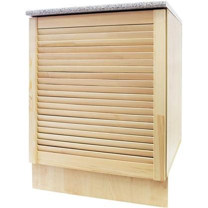 Шкаф напольный Сосна жалюзи Мо с фасадом 85х60 см хвоя/ЛДСП цвет cосна цена