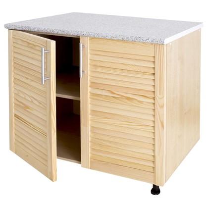 Шкаф напольный Сосна жалюзи Мо с фасадом 85х80 см хвоя/ЛДСП цвет cосна цена