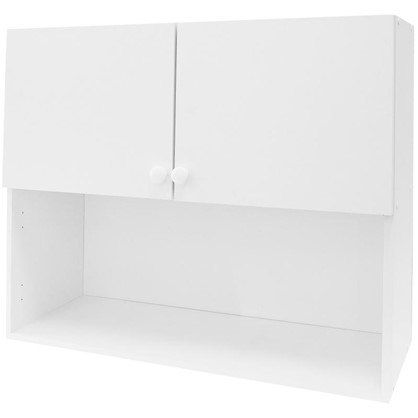 Шкаф навесной Бьянка Д с фасадом 67.6х80 см цвет белый цена