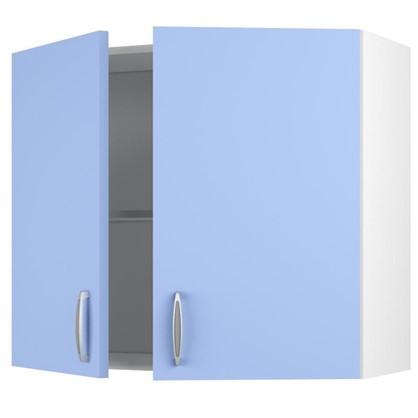 Шкаф навесной Лагуна Д 67.6х80 см цвет голубой цена