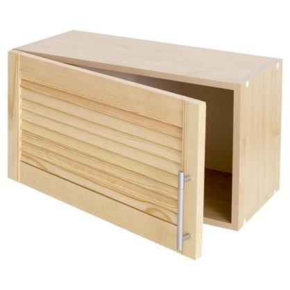 Шкаф навесной над вытяжкой Сосна жалюзи Мо с фасадом 35х60 см хвоя/ЛДСП цвет сосна
