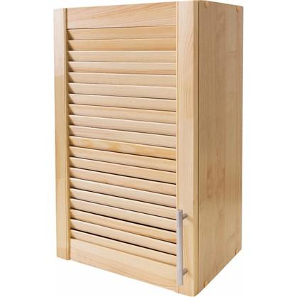 Шкаф навесной Сосна жалюзи Мо с фасадом 68х40 см хвоя/ЛДСП цвет сосна цена