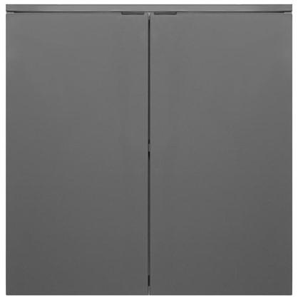 Шкаф для ванной подвесной Авангард 60x90 см цвет серый