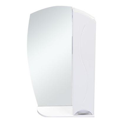 Зеркальный шкаф Глория 55 см цвет белый