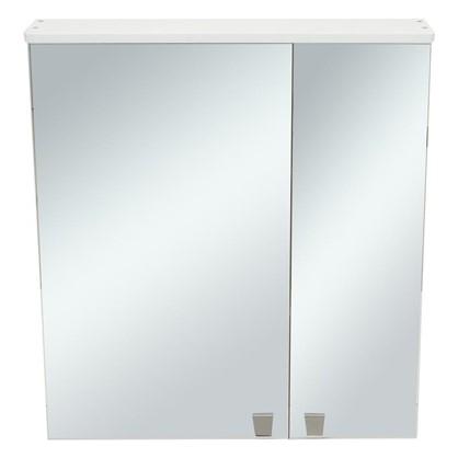 Зеркальный шкаф Лидия 65 см цвет белый цена