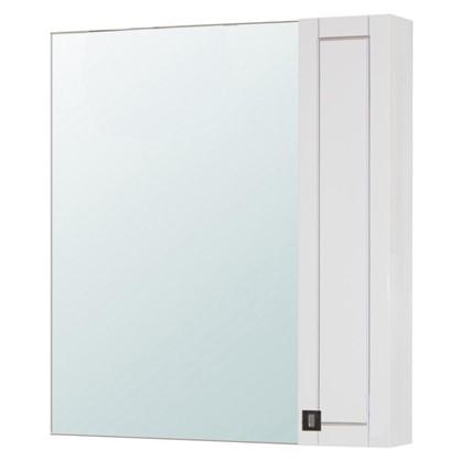 Зеркальный шкаф Мерлин 80 см цвет белый цена