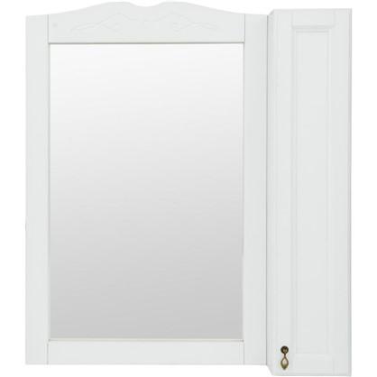 Зеркальный шкаф O-mebel Retro 85 см массив бука цвет белый цена