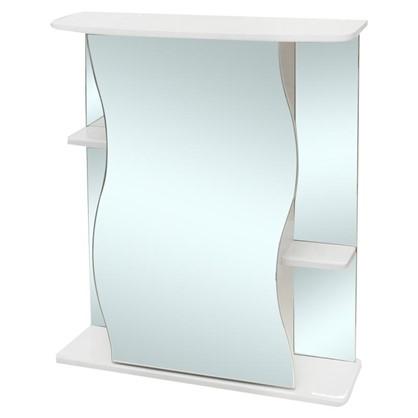 Зеркальный шкаф Волна 60 см цвет белый