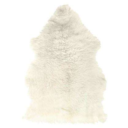 Шкура овечья одинарная 0.65х0.45 м цвет белый