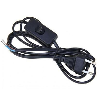 Шнур сетевой с выключателем 1.9 м цвет черный цена
