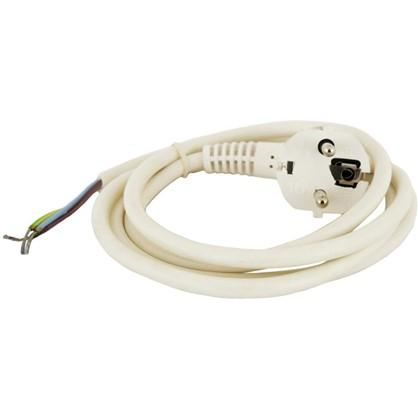 Шнур сетевой с заземлением 1.5 м цвет белый