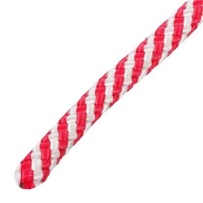 Шнур спирального плетения Standers 8 мм 20 м полипропилен цвет белый/красный