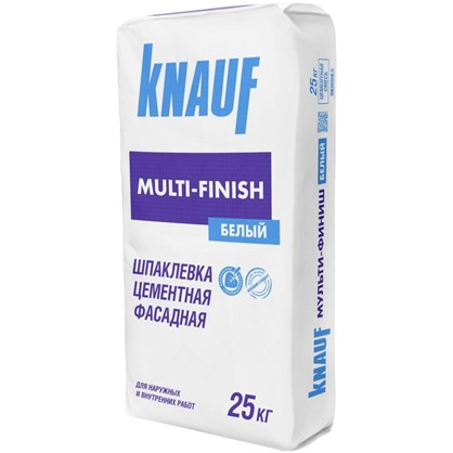 Шпаклевка цементная Knauf Мульти-Финиш Фасад 25 кг цена
