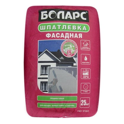 Шпаклевка фасадная Боларс 25 кг цена