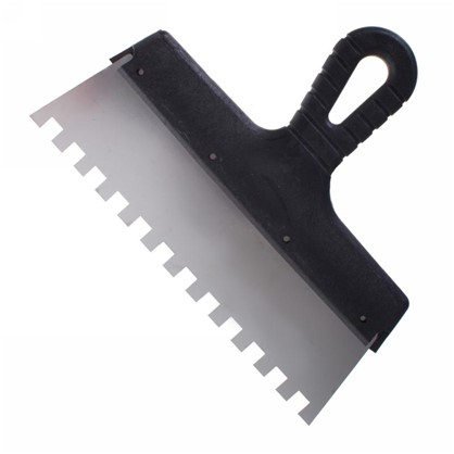 Шпатель фасадный зуб 10х10 мм 250 мм цена