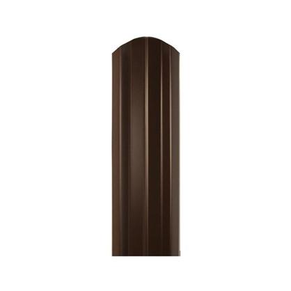 Штакетник СТ-М 100мм 1.8 м двухсторонний коричневый цена