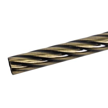 Штанга витая 200 см сталь цвет золото антик