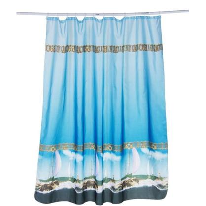 Штора для ванной Парус 180х180 см цвет синий
