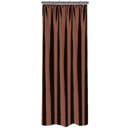 Штора на ленте 140х260 см тафта цвет шоколадный цена
