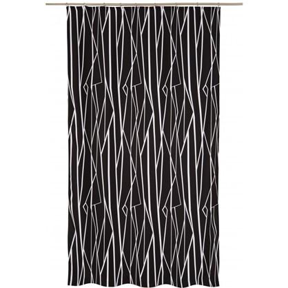 Штора на ленте Геометрия 140х260 см цвет черно-белый цена