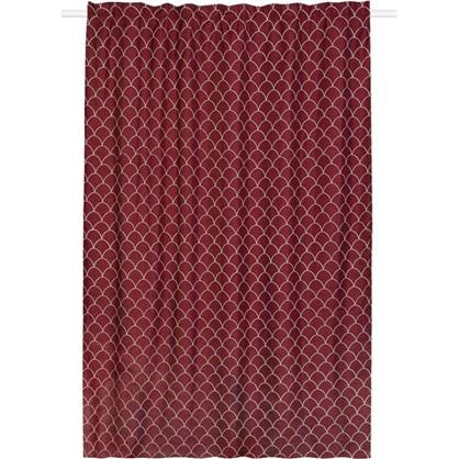 Штора на ленте Great Gatsby 200x280 см цвет красный цена