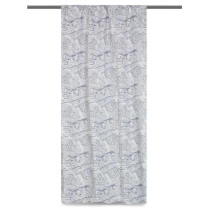 Штора на ленте Кружево 145х280 см цвет белый